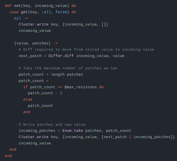 linked code